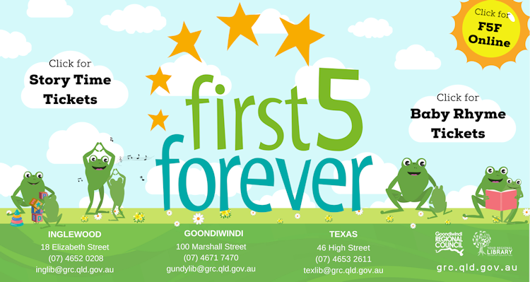 First 5 forever website new with book tickets for each session