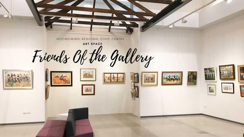 image of the goondiwindi artspace advertising membership for friends of the gallery