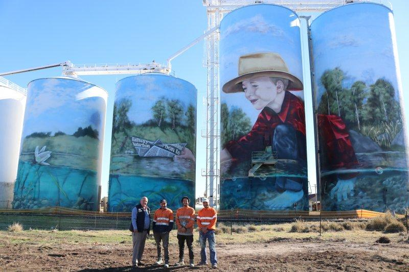 Yelarbon silo art to boost town's tourism potential